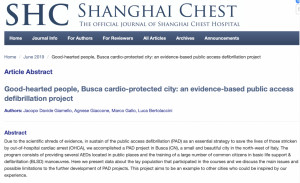 Un altro riconoscimento internazionale per 'Busca città cardioprotetta'