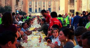 Anche a Saluzzo la 'Tavolata Italiana Senza Muri' organizzata dalla Caritas