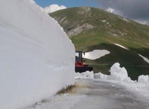 Ripulito dalla neve l'ultimo tratto della salita del 'Fauniera'
