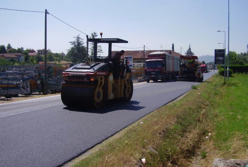 Fino all'8 luglio lavori di asfaltatura sulla Bovesana