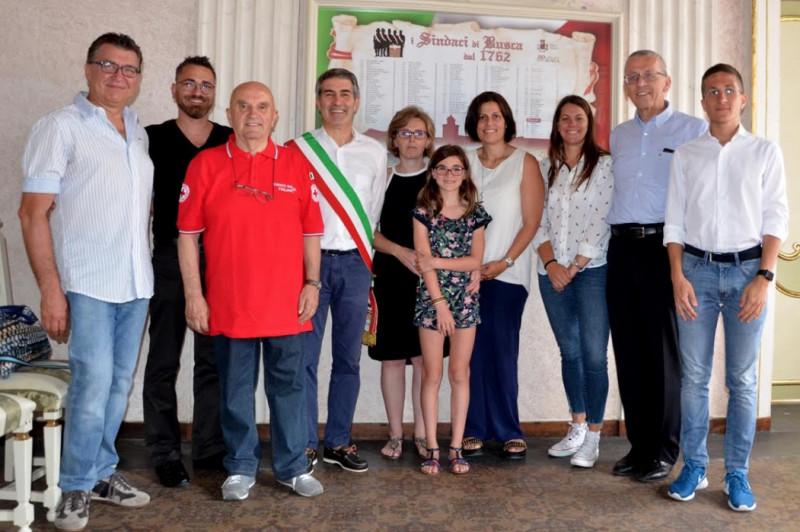 La vice responsabile della Croce Rossa di Monte Carlo in visita ufficiale al Comitato di Busca