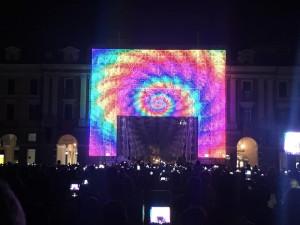 Un minuto di silenzio in memoria di Francesco Scarmato prima dell'inaugurazione dell'Illuminata
