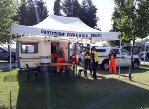 A Spinetta un'esercitazione della Protezione Civile della sezione Alpini di Cuneo