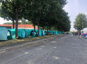 Trasferiti nelle tende al Foro Boario i braccianti ospitati nel Pala CRS di Saluzzo