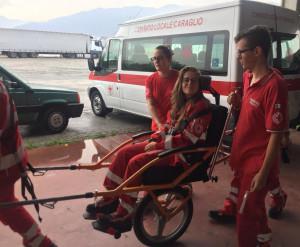 La Croce Rossa e i Vigili del Fuoco in esercitazione a Caraglio