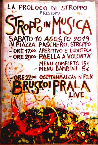 Sabato 10 agosto a Stroppo si balla con i 'Bruskoi Prala'