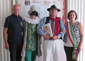 'Meneghino' da Milano in visita a Busca