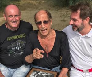 L'orologiaio di Revello Bruno Giuva ha incontrato Adriano Celentano