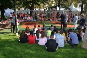 Bra: inaugurati il parco giochi inclusivo e il 'Dado della pace'