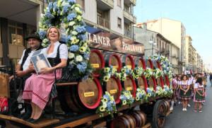 Tutto pronto per la grande parata che apre la IV edizione del Paulaner Oktoberfest Cuneo 2019