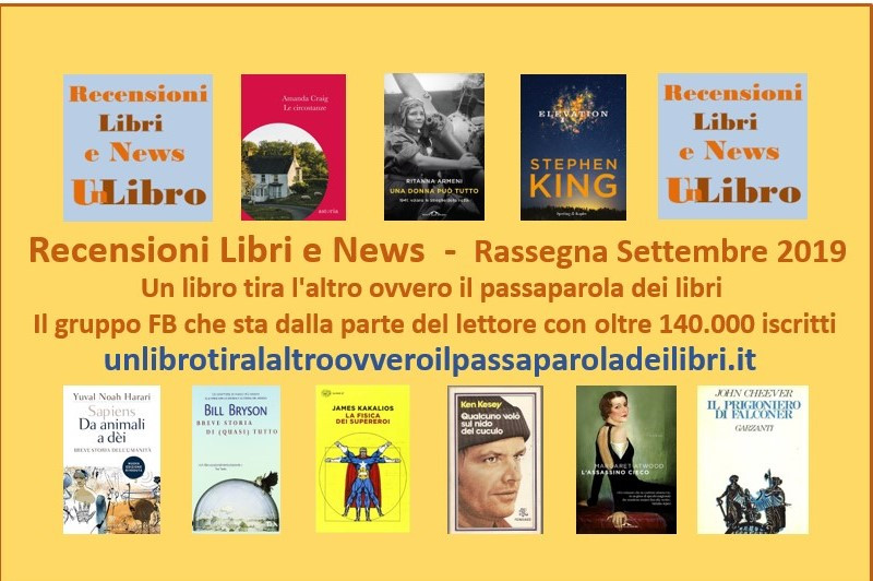 'Un libro tira l'altro': ecco i libri più letti e commentati del mese di settembre