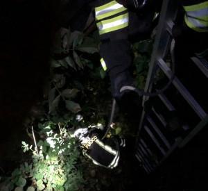 Busca, i Vigili del Fuoco salvano un cane caduto in un canale