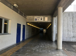 Cuneo, sgomberato il sottopassaggio del Movicentro