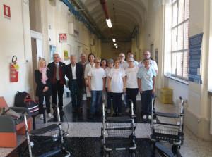 Gli 'Amici del Cuore' donano pedaliere e rollatori all'ospedale di Fossano