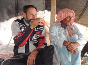 Motori, Franco Ballatore è arrivato a Petra: è la settima meraviglia