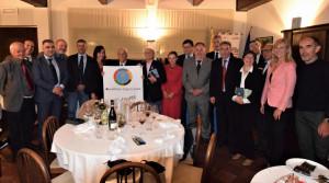 Gli Assessori allo Sport del Comune di Cuneo dal '69 ad oggi riuniti dal Panathlon