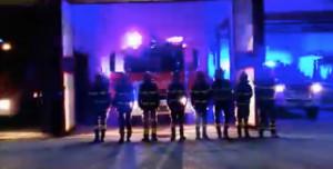 Anche i Vigili del Fuoco di Busca hanno ricordato i colleghi caduti a Quargnento (VIDEO)