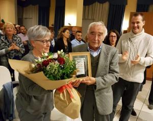 Il ringraziamento dei volontari Ail Cuneo a Elsa Morra e ai coniugi Rubino