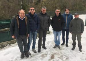 Il consigliere provinciale Danna in visita agli incubatoi ittici di Dronero e Demonte