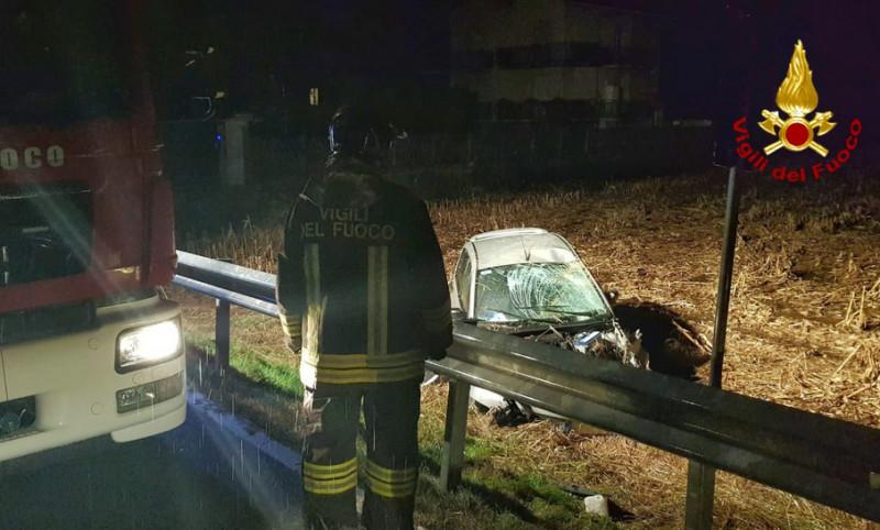 Incidente nella notte sulla Cuneo-Mondovì: un ferito
