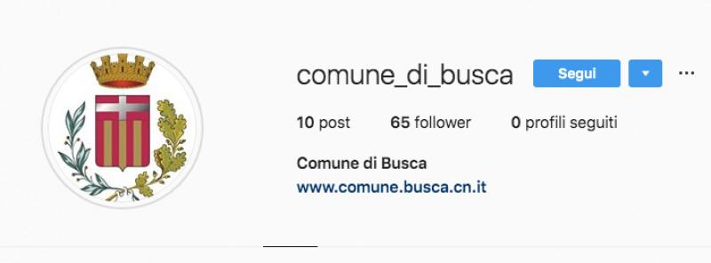 Il Comune di Busca sbarca su Instagram