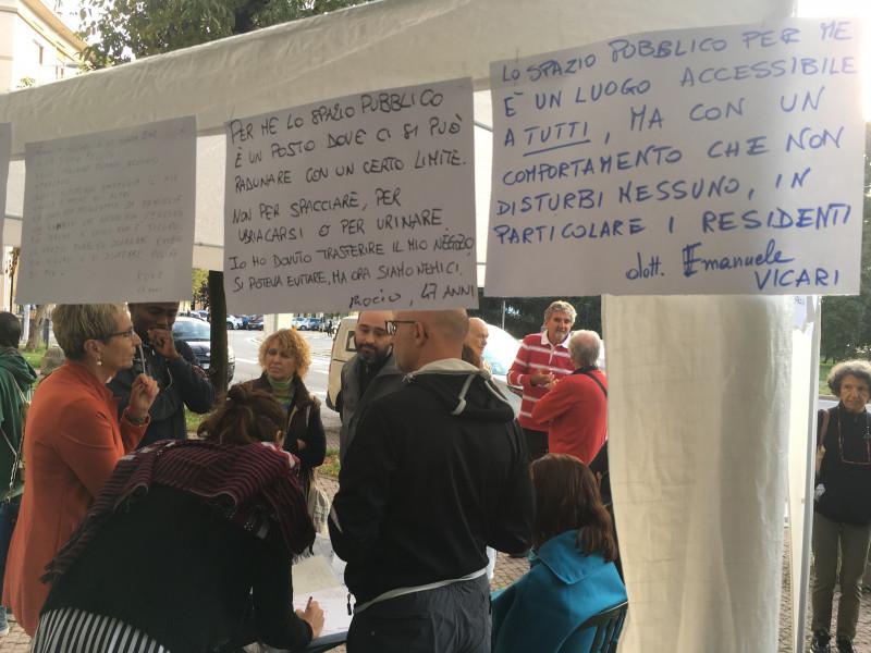 Uno degli incontri con la cittadinanza organizzati dal Cdq Cuneo Centro