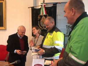 Verzuolo, in Comune una delegazione della Valmet, multinazionale impegnata nella riconversione Burgo
