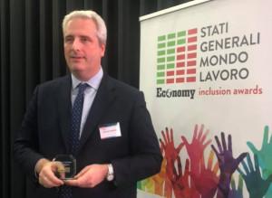 Federico Borgna premiato a Milano: 'Per l'inclusione serve anche la volontà di chi viene incluso'