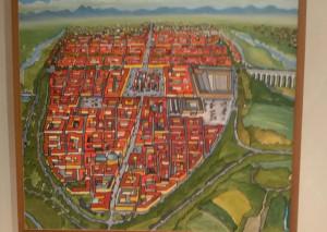 Cuneo vista dall'alto nel quadro donato da Gianni Gaschino al Comune