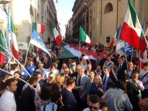 I militanti di Fratelli d'Italia: 'Non ci impongano l'esame di antifascismo'