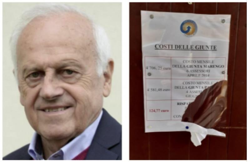 Verzuolo, strappata una locandina informativa del sindaco Panero