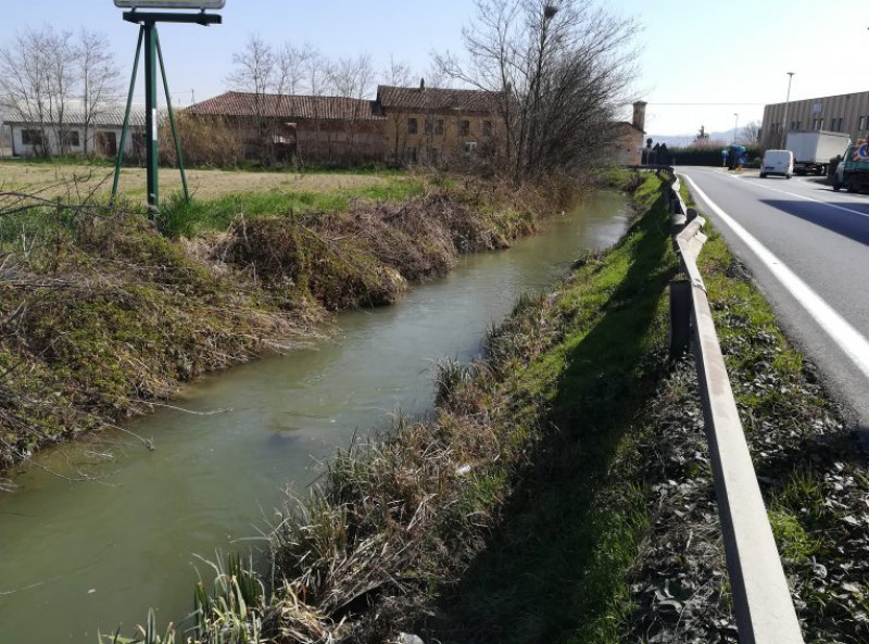 La Provincia sistema frane e cedimenti lungo la provinciale 7 tra Pollenzo e località Cantina Roddi