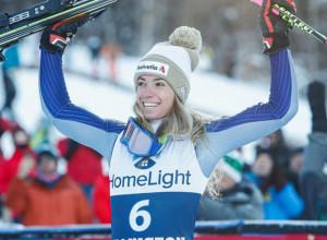 Marta Bassino batte la Brignone e conquista il terzo posto nello slalom gigante parallelo