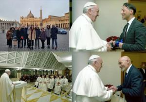L'équipe del reparto di Neurochirurgia del Santa Croce ricevuta dal Papa in Vaticano