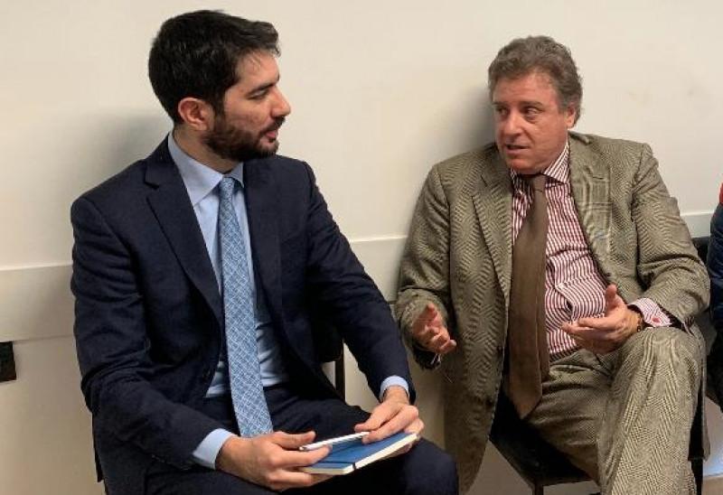 L'avvocato Martinetti a colloquio con il Console Diego Solinas