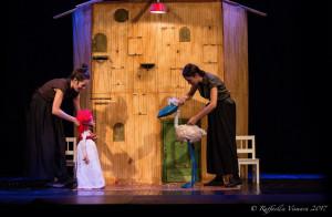 Al teatro civico di Busca in costume da Carnevale con 'Valentina Vuole'