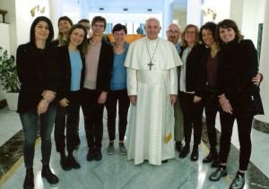 Una seconda delegazione del reparto di Neurochirurgia del 'Santa Croce' ha incontrato Papa Francesco