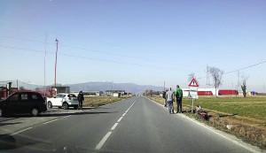 San Chiaffredo, moto fuori strada sulla provinciale Cuneo-Busca