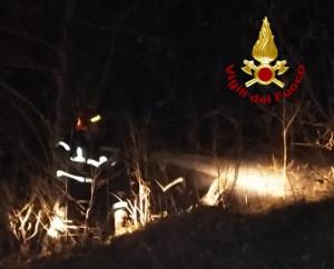 Bruciano i boschi di Monterosso Grana, in azione i Vigili del Fuoco