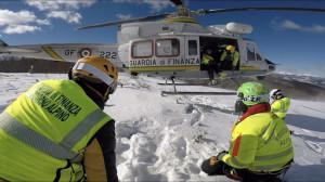 Un'esercitazione in Polonia per il Soccorso Alpino della Guardia di Finanza di Cuneo