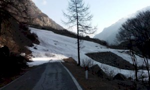 Ancora chiusa la strada per San Giacomo di Entracque e tutte quelle per i colli alpini