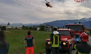 Auto fuoristrada a Bagnolo Piemonte, un ferito