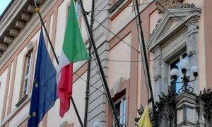 Nella Granda bandiere esposte per celebrare la festa della Liberazione