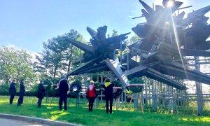 Cuneo, il sindaco Borgna sui luoghi simbolo della Resistenza per un momento di raccoglimento