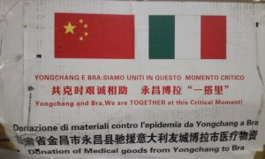 Bra chiama, Yongchang risponde: in arrivo dalla Cina 20 mila mascherine, guanti e tute
