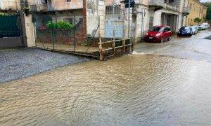 Saluzzo, la pioggia causa diversi allagamenti in città