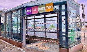 Cuneo, da stamattina il sottopassaggio del Movicentro è chiuso con delle grate