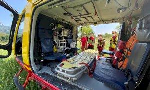 Cicloescursionista soccorso dal 118 dopo un incidente a Roccasparvera