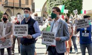 Cuneo, Flash Mob della Lega contro le politiche del Governo