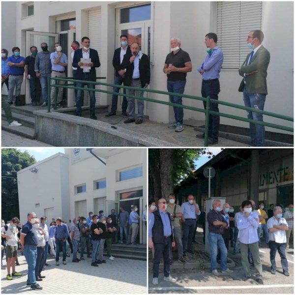 Gli allevatori di suini protestano a Fossano, Taricco (PD): 'Peccato il mancato invito da parte di Tallone'